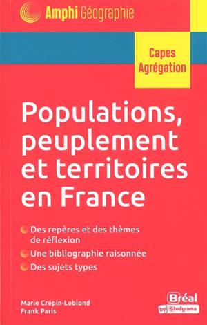 Populations, peuplement et territoires en France : Capes, agrégation