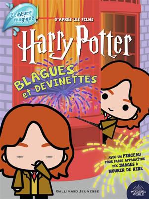 Harry Potter : blagues et devinettes, peinture magique : d'après les films