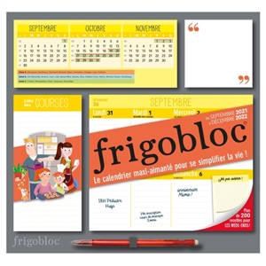 Frigobloc : le calendrier maxi-aimanté pour se simplifier la vie ! : de septembre 2021 à décembre 2022