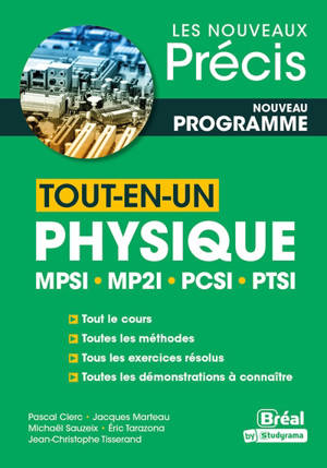 Physique tout-en-un MPSI, MP2I, PCSI, PTSI : nouveau programme