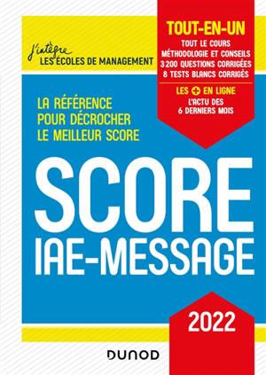 Score IAE-Message : tout-en-un : 2022