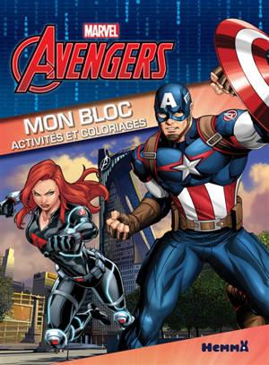 Avengers : mon bloc activités et coloriages : Black Widow et Captain America