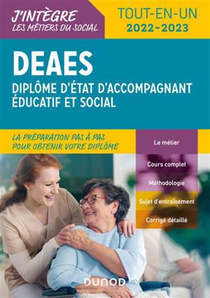 DEAES, diplôme d'Etat d'accompagnant éducatif et social : tout-en-un 2022-2023