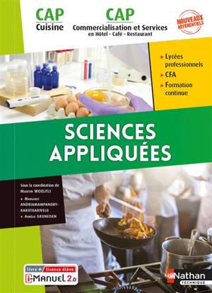 Sciences appliquées CAP cuisine, CAP commercialisation et services en hôtel, café, restaurant