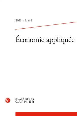 Economie appliquée. n° 1
