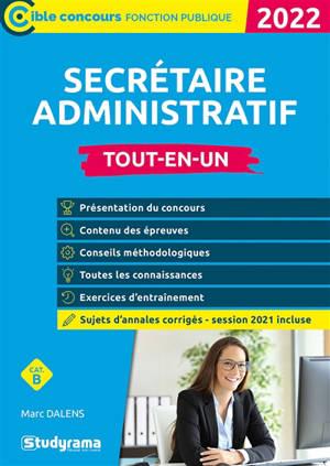 Secrétaire administratif : tout-en-un, catégorie B : 2022