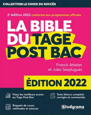 La bible du Tage post-bac : 2022