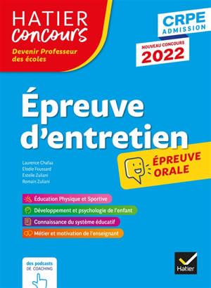 Epreuve d'entretien : CRPE 2022 : épreuve orale d'admission