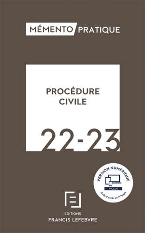 Procédure civile : 2022-2023