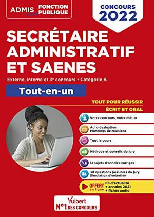 Secrétaire administratif et SAENES : externe, interne et 3e concours, catégorie B : tout-en-un, concours 2022