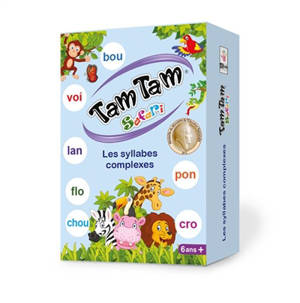 Tam Tam safari : les syllabes complexes CP : jeu de lecture CP-CE1