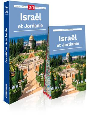 Israël et Jordanie : 3 en 1 : guide + atlas + carte laminée