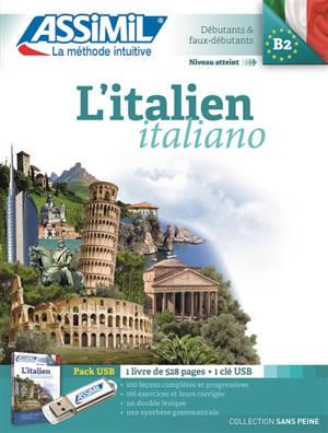 L'italien : débutants & faux-débutants, niveau atteint B2 : pack USB