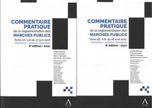 Commentaire pratique de la réglementation des marchés publics