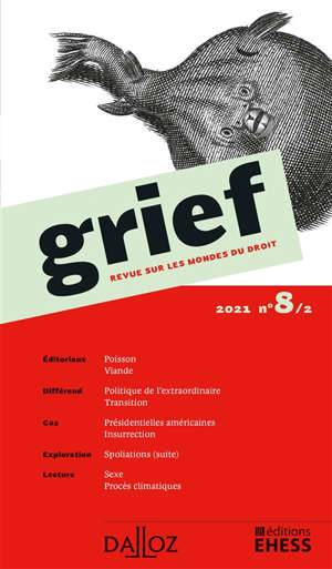 Grief : revue sur les mondes du droit. n° 8-2