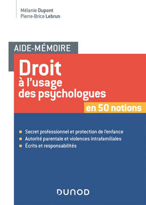 Droit pour psychologues en 50 notions