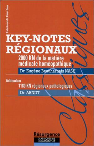 2.000 key-notes régionaux de la matière médicale homéopathique. 1.180 key-notes régionaux pathologiques : addendum