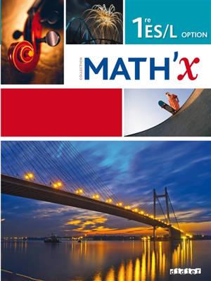 Math'x 1re ES-L option : programme 2011