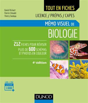 Mémo visuel de biologie : l'essentiel en fiches : licence, prépa, Capes