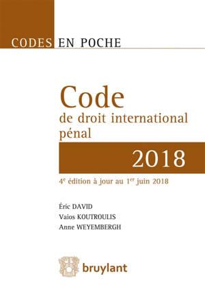 Code de droit international pénal 2018