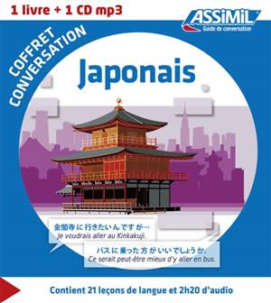 Coffret conversation japonais : 1 livre + 1 CD MP3