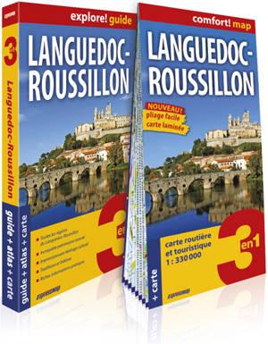 Languedoc-Roussillon : 3 en 1 : guide + atlas + carte