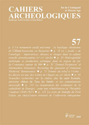Cahiers archéologiques (Les). n° 57