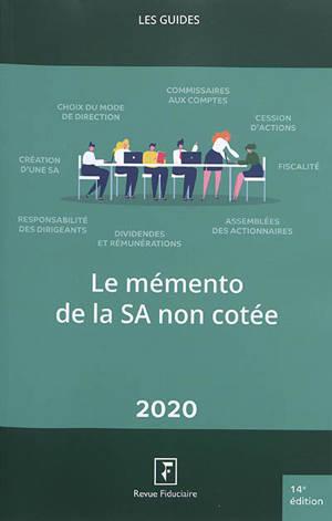 Le mémento de la SA non cotée 2020