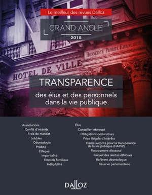 Transparence des élus et des personnels dans la vie publique