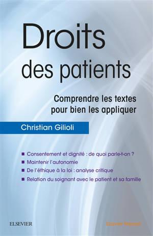 Droits des patients : comprendre les textes pour bien les appliquer