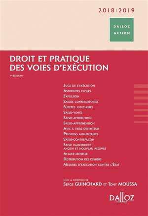 Droit et pratique des voies d'exécution : 2018-2019