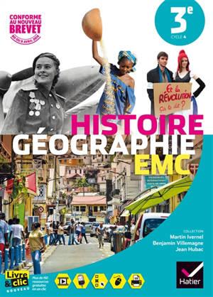 Histoire géographie EMC 3e, cycle 4