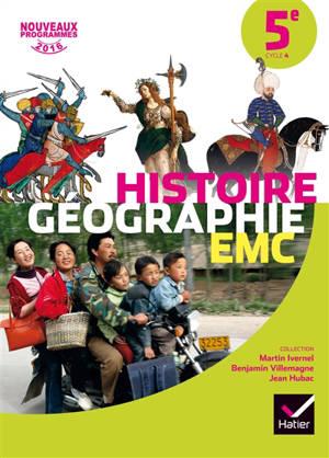 Histoire géographie, EMC 5e, cycle 4 : nouveaux programmes 2016