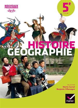 Histoire-géographie 5e, cycle 4 : nouveaux programmes 2016