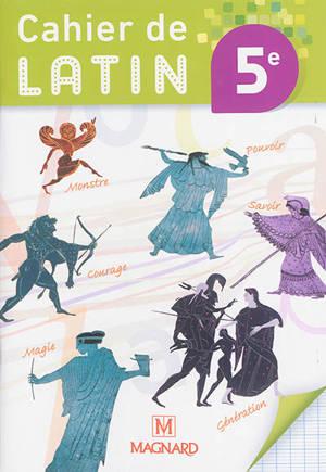 Cahier de latin 5e