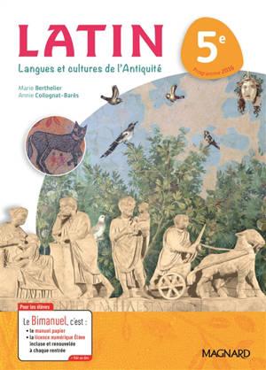Latin, langues et cultures de l'Antiquité 5e : programme 2016