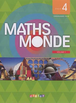 Maths monde, cycle 4 : programme 2016