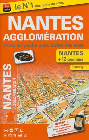 Nantes agglomération : plan de ville avec index des rues