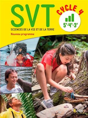 SVT, sciences de la vie et de la Terre, cycle 4, 5e, 4e, 3e : nouveau programme