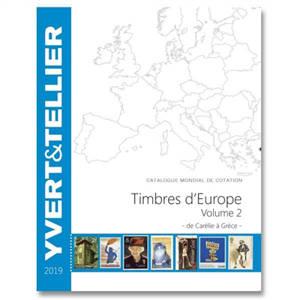 Catalogue Yvert et Tellier de timbres-poste : cent vingt-troisième année : Europe. Volume 2, De Carélie à Grèce : 2019