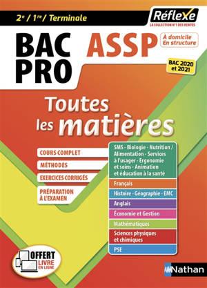 Bac pro ASSP, accompagnement, soins et services à la personne : toutes les matières, 2de, 1re, terminale