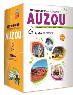 Coffret dictionnaire encyclopédique Auzou et atlas du monde