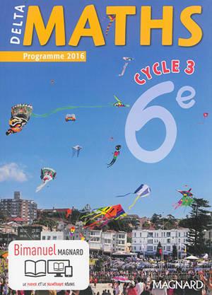 Delta maths, cycle 3, 6e : programme 2016
