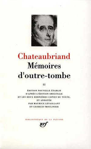 Mémoires d'outre-tombe. Volume 2