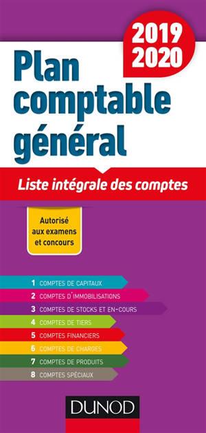 Plan comptable général 2019-2020 : liste intégrale des comptes