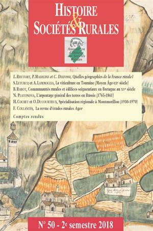 Histoire & sociétés rurales. n° 50