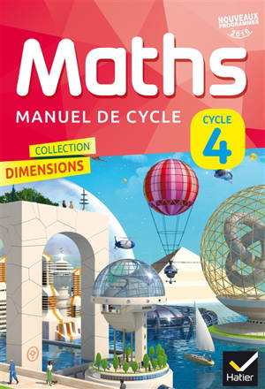 Maths : manuel de cycle 4 : nouveaux programmes 2016