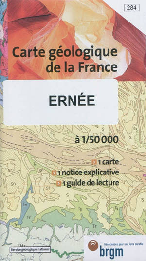 Ernée : carte géologique de la France