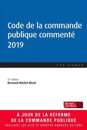 Code de la commande publique commenté 2019