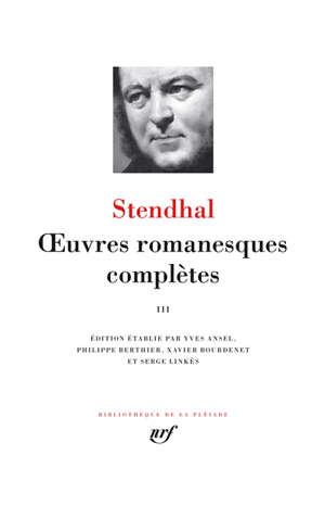 Oeuvres romanesques complètes. Volume 3